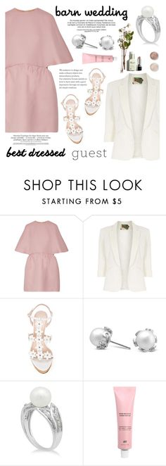 """Best Dressed Guest: Barn Weddings"" by blossom-jewels on Polyvore featuring Valentino, Jolie Moi, Oscar de la Renta, Terre Mère, contestentry, bestdressedguest, barnwedding and Blossomjewels"