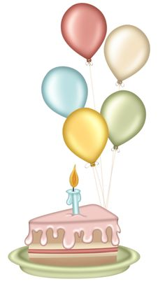 Cute Clipart ❤ Cake and Balloons