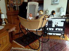 Rarität alter traumschöner Korb Kinderwagen von Naether um 1900 Puppenwagen   eBay