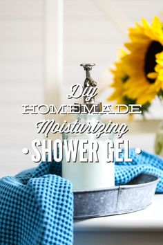 A moisturizing and rich homemade shower gel! This recipe is so easy to make--only takes 5 minutes max. Lasts for months!