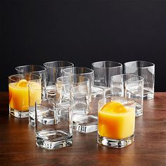 Shop Set of 12 Strauss Double Old-Fashioned Glasses. Cool drinkware just around the corner. Modern old fashioned glass squares off with slightly rounded angles for easy sipping. Thick, substantial shams highlight the geometric shape. Kitchen Sets, Kitchen Decor, Most Luxurious Hotels, Old Fashioned Glass, Drinking Glass, Dinnerware Sets, Crate And Barrel, Kitchen Accessories, Drinkware