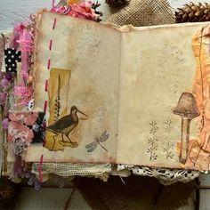 Fully finished bohemian style nature junk journal.Custom order. #junkjournal#naturejournal#Sigitascoffeestains#etsyseller#etsy#