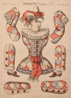 "Pierrette, EKDuncan - My Fanciful Muse: Vintage ""Pantin"" Jumping-Jack Paper Dolls"