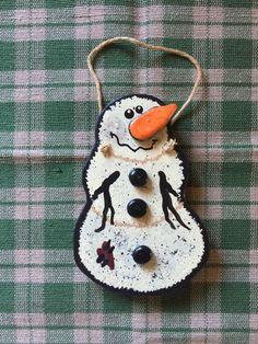 snowman ornament by CallMeCutesy on Etsy https://www.etsy.com/listing/242705900/snowman-ornament