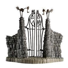 WDCC The Nightmare Before Christmas Gate Jack Skeletons Gate A WDCC Walt Disney Classics Collection Figurine 1217973 From the Disney Classics Series The Nightmare Before Christmas. Fete Halloween, Halloween Village, Halloween Crafts, Halloween Decorations, Halloween Graveyard, Outdoor Halloween, Halloween 2017, Halloween Stuff, Halloween Ideas