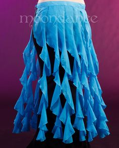 """Wrap around ties skirt with long frills.   Skirt is 38"""" around plus ties.  Looks great over pants or skirts."""