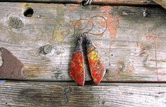 Ladies Cherry Jasper and Mexican Fire Opal Wire by Mojowoman