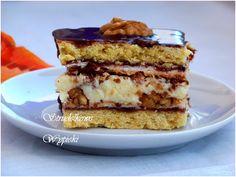 Ciasto Z Orzechami, Bezą i Masą Budyniową