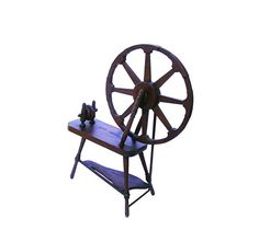 Antique Wooden Spinning Wheel Upright Parlor by OceansideCastle, $348.99