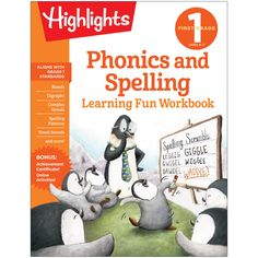 Learning Fun Workbooks Phonics & Spelling Highlights