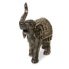 Gold Effect Elephant Ornament, Large - B&Q for all your home and garden supplies and advice on all the latest DIY trends