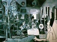 Pablo Picasso. Una de las variaciones del cuadro Las Meninas de Velázquez, realizadas entre el 17 de agosto y el 30 de diciembre de 1957 . http://1.bp.blogspot.com/_VSE6Zaoo1fs/SGYqheLnZeI/AAAAAAAAAxs/6nsNmuDPdl0/s1600-h/meninasPicasso6.jpg