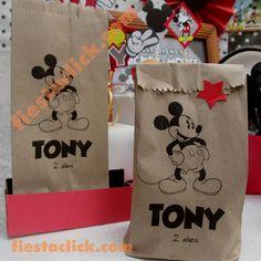 mickey mouse clasico bolsitas mesa dulces