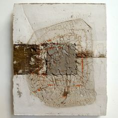 "Marlies Hoevers : : Motion : : [mixed media] cement, thread, sand, and concrete 9.625"" x 11.75"" : : circa 2013"
