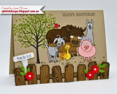 Splotch Design - Jacquii McLeay Independent Stampin' Up! Demonstrator: From the Herd Card