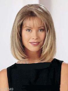 Natural Brown Blonde Straight Short Hair Wigs Short Women'S Fashion Wig