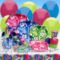 Luau Party Supplies from Theme A Party
