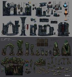Dungeon kits, Neil Richards on ArtStation at https://www.artstation.com/artwork/dungeon-kits