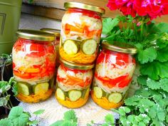 Fresh Rolls, Pickles, Cucumber, Mason Jars, Salads, Vegetables, Ethnic Recipes, Food, Dressing