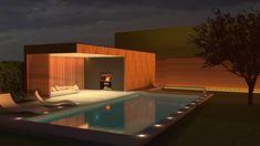 Een houten poolhouse van Outsit Modern, Juice, Trendy Tree