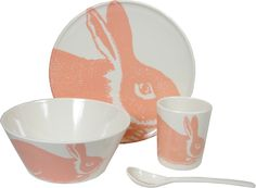 Bunny Baby Dining Set Rose Pinks 4 Pieces