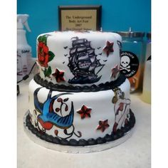 Sailor Jerry Tattoo Cake By JennyMay On Central  Polyvore