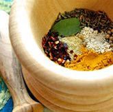 Easy Homemade Thai Curry Powder in the making (here shown with whole spices before grinding)