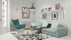 La simplicidad y la funcionalidad de una sala de estar decorada en estilo nórdico es algo realmente insuperable. Estas ideas lo demuestran!