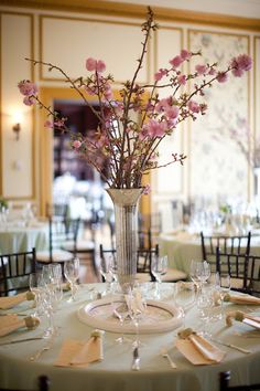 cherry blossoms as wedding decor