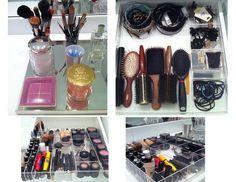 Dicas para organizar as maquiagens!   Dia de Beauté