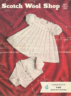 Scotch Wool Shop 157 baby dress and matinee coat set by Ellisadine, £1.00