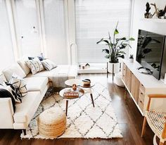 Home Interior Boho Preston Sectional - Photo by Kirstin Hoffmann.Home Interior Boho Preston Sectional - Photo by Kirstin Hoffmann Coastal Living Rooms, Boho Living Room, Home And Living, Small Living Room Sectional, Modern Living, Minimalist Living, Cozy Living, Simple Living, Living Room Decor Small Apartment