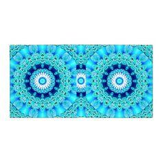 Blue Ice Angel Ring, Abstract Mandala Binders #mandala #aqua #binder #dianeclancy