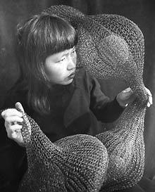 Ruth Asawa, crocheted wire sculpture