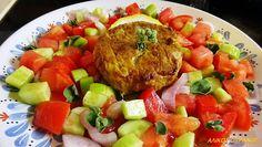 ΜΠΙΦΤΕΚΙΑ ΦΟΥΡΝΟΥ ΜΕ ΓΑΡΝΙΤΟΥΡΑ ΣΑΛΑΤΑΣ ελαφρύ φαγητό για γεύμα και δείπνο. translate tool