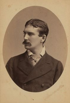 Handsome, moustached Victorian stage actor H.J. Montague. #Victorian #19th_century #1800s #photograph #antique #vintage #actor #man #handsome #moustache #stage
