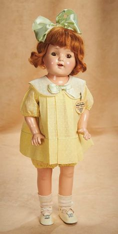 Theriault's Antique Doll Auctions...American Composition Red Head Mary Ann for Bloomingdale's by Effanbee , circa 1925