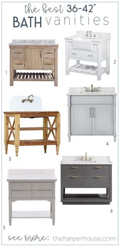 36 inch and 42 inch bathroom vanity roundup: get a custom look for half the pric.-- 36 inch and 42 inch bathroom vanity roundup: get a custom look for half the price! Modern Master Bathroom, Modern Bathroom Design, Bathroom Interior Design, White Bathroom, Bathroom Small, Minimal Bathroom, Boho Bathroom, Master Bathrooms, Bathroom Designs