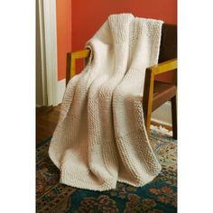 Basketweave Afghan - Lion Brand Yarn