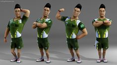 Fiz este personagem para a Tonka3D. Veja mais: http://bit.ly/1Fryuzl