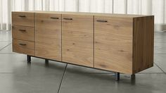 Aspen Sideboard | Crate and Barrel 78.75 x 19.75 x 28h $2,599