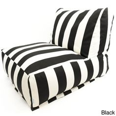 Indoor/Outdoor Vertical Strip Bean Bag Chair Lounger | Overstock.com Shopping - The Best Deals on Sofas, Chairs & Sectionals