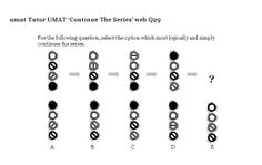 On this page are lots of non-verbal reasoning UMAT questions for you to work through: continue the series, complete the diagram, middle of the sequence- now in test format; The Following Series, Middle, Shapes, This Or That Questions, Free