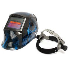 Blue Skull Solar Auto Darkening Grinding Helmet ARC TIG MIG Welding Helmet Mask