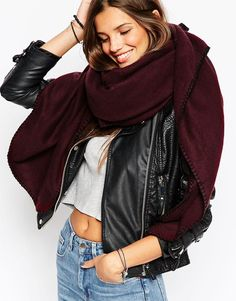 Wear two scarves or one big one.