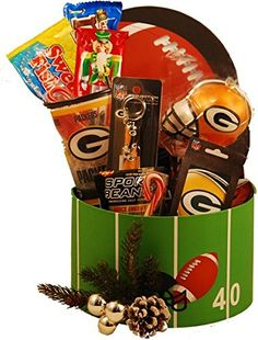 Green Bay Packers Christmas Gift Basket - http://www.fivedollarmarket.com/green-bay-packers-christmas-gift-basket/