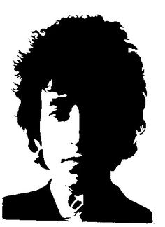 Bob Dylan Silhouette to find in stencil <~~Gilley's Stoner Art Gallery~~> - TokeCity
