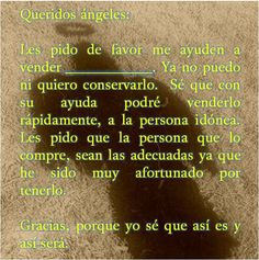 #UniversoDeAngeles Oración muy poderosa a los ángeles para vender algún bien material.
