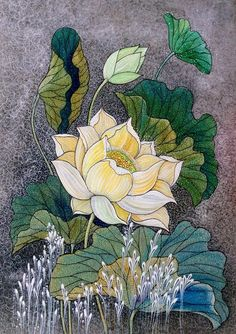 LineartDQD by duongquocdinh on DeviantArt Lotus Drawing, Lotus Painting, Painting & Drawing, Lotus Flower Art, Lotus Art, Japanese Drawings, All Nature, Japanese Painting, Pics Art