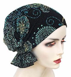 NEW! Abbey Cap 539-Green Paisley Floral - Limited Collection - More Details